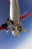 Φωτογραφία ελεύθερων πτώσεων με αλεξίπτωτο. Στοκ Φωτογραφία