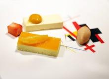 Φωτογραφία ενός μακρο εύγευστου επιδορπίου κέικ Στοκ εικόνα με δικαίωμα ελεύθερης χρήσης
