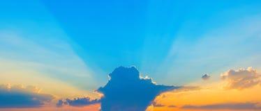 Φωτογραφία ενός μπλε ουρανού με τα σύννεφα Στοκ εικόνα με δικαίωμα ελεύθερης χρήσης