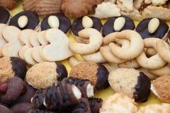 Φωτογραφία λεπτομέρειας των διάφορων σπιτικών μπισκότων Χριστουγέννων, ειδικό Czec Στοκ εικόνες με δικαίωμα ελεύθερης χρήσης