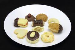 Φωτογραφία λεπτομέρειας των διάφορων σπιτικών μπισκότων Χριστουγέννων, ειδικό Czec Στοκ Εικόνα