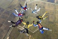 Φωτογραφία ελεύθερων πτώσεων με αλεξίπτωτο. Στοκ Εικόνα