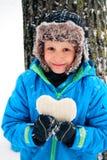 1 φωτογραφία καρδιών αγοριών Στοκ Φωτογραφίες