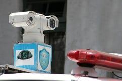 Φωτογραφία κινηματογραφήσεων σε πρώτο πλάνο της κάμερας CCTV Στοκ εικόνες με δικαίωμα ελεύθερης χρήσης