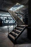 Φωτογραφία κινηματογραφήσεων σε πρώτο πλάνο των βιομηχανικών σκαλοπατιών Στοκ φωτογραφία με δικαίωμα ελεύθερης χρήσης