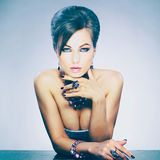 φωτογραφία κοσμήματος μόδας ομορφιάς τέχνης στοκ εικόνα με δικαίωμα ελεύθερης χρήσης