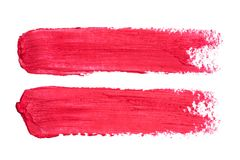 Φωτογραφία κόκκινα smudges κραγιόν που απομονώνονται στο άσπρο υπόβαθρο στοκ εικόνα με δικαίωμα ελεύθερης χρήσης