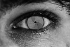 Φωτογραφία-μάτι στοκ φωτογραφία με δικαίωμα ελεύθερης χρήσης