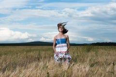 Φωτογραφία μόδας της νέας όμορφης γυναίκας Στοκ Εικόνα