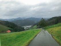 Φωτογραφία οδικών τοπίων βουνών στοκ φωτογραφίες με δικαίωμα ελεύθερης χρήσης