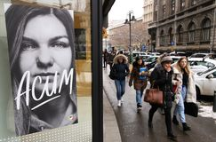 Φωτογραφία οδών - στο κέντρο της πόλης Βουκουρέστι στοκ εικόνα με δικαίωμα ελεύθερης χρήσης