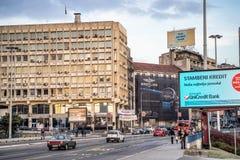 Φωτογραφία οδών κεντρικού Βελιγραδι'ου στοκ εικόνες