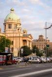 Φωτογραφία οδών του Κοινοβουλίου Βελιγραδι'ου στοκ εικόνα με δικαίωμα ελεύθερης χρήσης