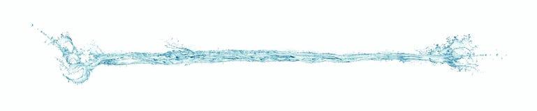 Φωτογραφία παφλασμών, πτώσεων και αεροφυσαλίδων νερού (ψήφισμα τεράστιος-μεγέθους εικονοκυττάρων 12 000 X 2 500) Στοκ Φωτογραφίες