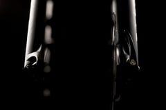 Φωτογραφία ποδηλάτων βουνών στο στούντιο, μέρη ποδηλάτων, μπροστινή απόσβεση στοκ φωτογραφία με δικαίωμα ελεύθερης χρήσης