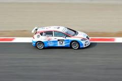 Αγωνιστικό αυτοκίνητο στη δράση Στοκ Εικόνες