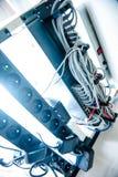 Φωτογραφία ραφιών κεντρικών υπολογιστών Στοκ Εικόνα