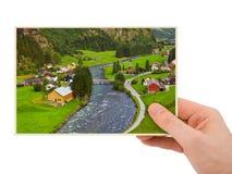 Φωτογραφία ταξιδιού της Νορβηγίας υπό εξέταση (η φωτογραφία μου) Στοκ εικόνα με δικαίωμα ελεύθερης χρήσης
