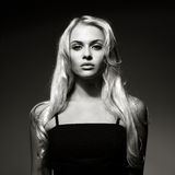 Όμορφη κυρία με τη θαυμάσια τρίχα Στοκ Φωτογραφίες