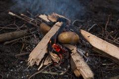 Φωτογραφία της πυράς προσκόπων Στοκ φωτογραφίες με δικαίωμα ελεύθερης χρήσης