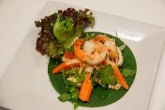 Φωτογραφία της ταϊλανδικής πικάντικης σαλάτας θαλασσινών Στοκ Εικόνα