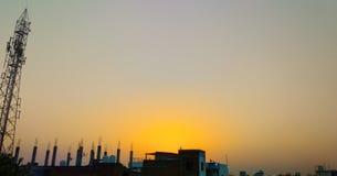 Φωτογραφία τοπίων με τη συνηθισμένη κάμερα Παράδειγμα της καθαρής εικόνας στοκ φωτογραφία