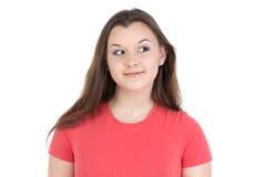 Φωτογραφία του έφηβη που εξετάζει το αριστερό Στοκ Εικόνες