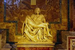 Φωτογραφία του αρχικού γλυπτού ` Pieta ` από Michelangelo Buonarroti στοκ εικόνα