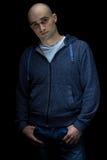 Φωτογραφία του νέου άτριχου ατόμου στοκ φωτογραφία με δικαίωμα ελεύθερης χρήσης