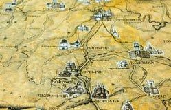 Φωτογραφία του παλαιού εκλεκτής ποιότητας χάρτη στην ηλικίας σελίδα Στοκ εικόνα με δικαίωμα ελεύθερης χρήσης
