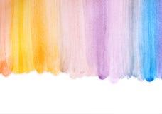 Φωτογραφία του πολύχρωμου χεριού λωρίδων watercilir - που γίνεται Στοκ Εικόνα