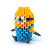 Φωτογραφία του origami mignon που απομονώνεται στο άσπρο υπόβαθρο Στοκ φωτογραφίες με δικαίωμα ελεύθερης χρήσης