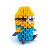 Φωτογραφία του origami mignon που απομονώνεται στο άσπρο υπόβαθρο Στοκ Εικόνες