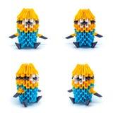 Φωτογραφία του origami mignons που απομονώνεται στο άσπρο υπόβαθρο Στοκ Φωτογραφία