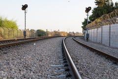 Φωτογραφία των διαδρομών σιδηροδρόμων Στοκ Εικόνες