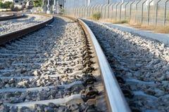 Φωτογραφία των διαδρομών σιδηροδρόμων Στοκ Φωτογραφίες