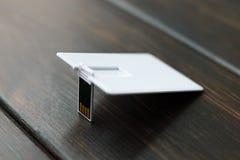 Φωτογραφία των κενών καρτών καρτών λάμψης usb Στοκ φωτογραφία με δικαίωμα ελεύθερης χρήσης