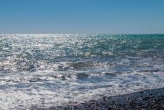 Φωτογραφία των κυμάτων στην παραλία Στοκ Εικόνα