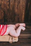 Φωτογραφία των νεογέννητων ποδιών μωρών Στοκ Εικόνες
