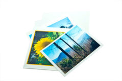 φωτογραφία φακέλων καρτών Στοκ Φωτογραφία