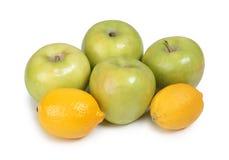 Apple και λεμόνι Στοκ Φωτογραφίες