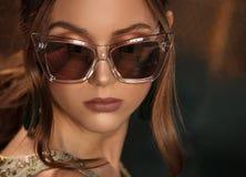 Φωτογραφία ύφους μόδας της αναδρομικής κομψής κυρίας στοκ φωτογραφία