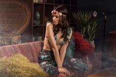 Φωτογραφία ύφους μόδας του κοριτσιού ύφους boho στοκ φωτογραφίες με δικαίωμα ελεύθερης χρήσης