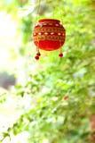 Φωτογραφία dahi HANDI στο φεστιβάλ gokulashtami στην Ινδία, η οποία είναι ημέρα γέννησης Λόρδου Shri Krishna ` s στοκ φωτογραφία