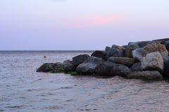 Φωτογραφία Lanscape του ανοικτού πεδίου φύσης με το σωρό των βράχων στο SE στοκ φωτογραφίες με δικαίωμα ελεύθερης χρήσης