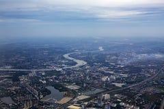 Φωτογραφίες από την επαρχία Nonthaburi ουρανού πρωινού Chao Phraya Riv στοκ φωτογραφίες με δικαίωμα ελεύθερης χρήσης
