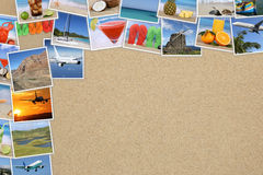 Φωτογραφίες από τις θερινές διακοπές, την παραλία, το ταξίδι, τις διακοπές και copys Στοκ Εικόνα