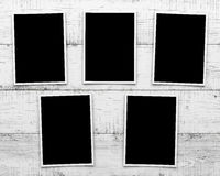 Φωτογραφίες στο ξύλινο υπόβαθρο Στοκ εικόνες με δικαίωμα ελεύθερης χρήσης