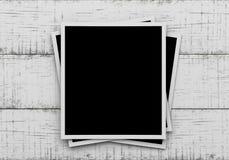 Φωτογραφίες στο ξύλινο υπόβαθρο Στοκ φωτογραφίες με δικαίωμα ελεύθερης χρήσης