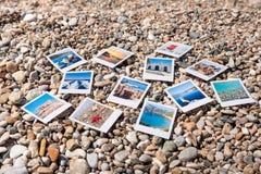 Φωτογραφίες των όμορφων στιγμών των ευτυχών καλοκαιρινών διακοπών στην Ελλάδα στοκ εικόνα